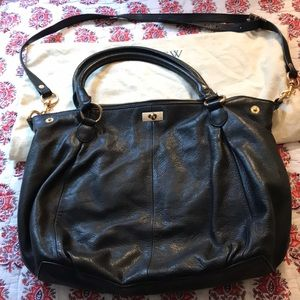 J. Crew Large Brompton Hobo Black Bag